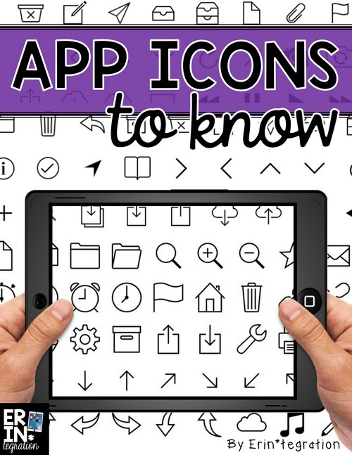 Teach these universal iPad app icons to your students to help them develop technology fluency and efficiency in the 1:1 classroom or any classroom using iPads.