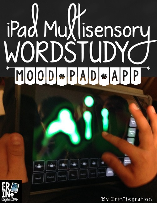 Multisensory word work center ideas - include ideas for using the iPad!
