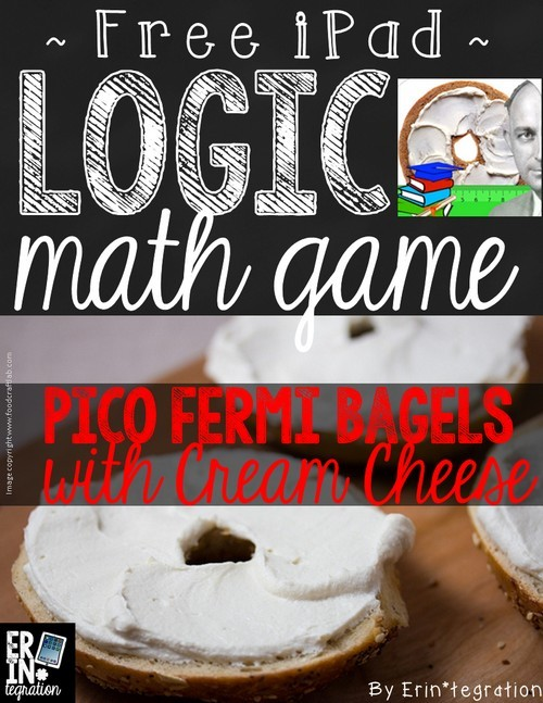 FREE download to go with this FREE math iPad app - Pico Fermi Bagels with Cream Cheese - perfect for GAFE, critical thinking and logic practice. Students will love this center game that can be played alone or with a partner.