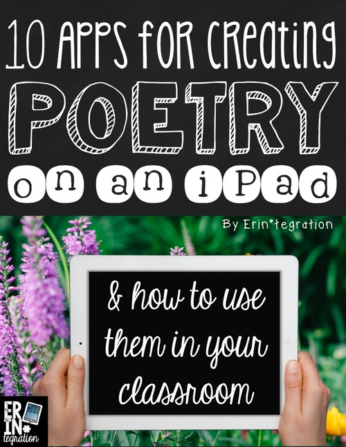 10 apps for creating poetry on the iPad plus free poetry paper and a way to share digital poems!