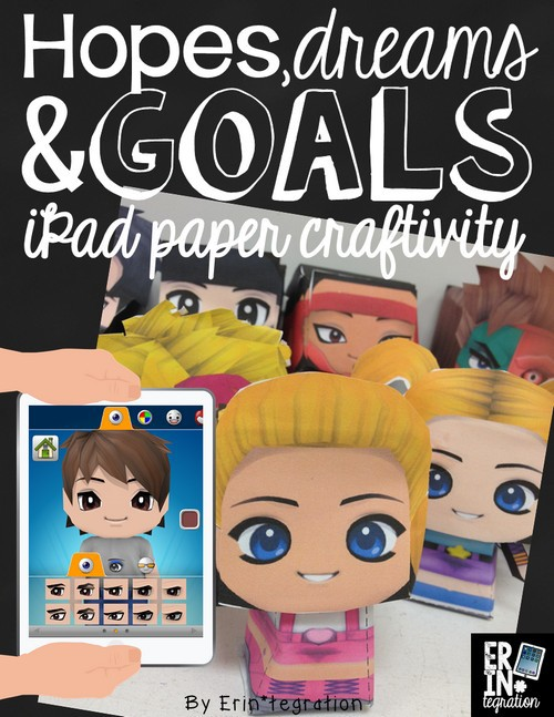 HOPES, DREAMS AND GOALS ON THE IPAD WITH PAPER CHIBI