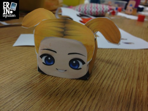 Paper Chibi assembled head