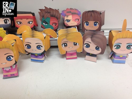 Paper Chibi Display in the classroom