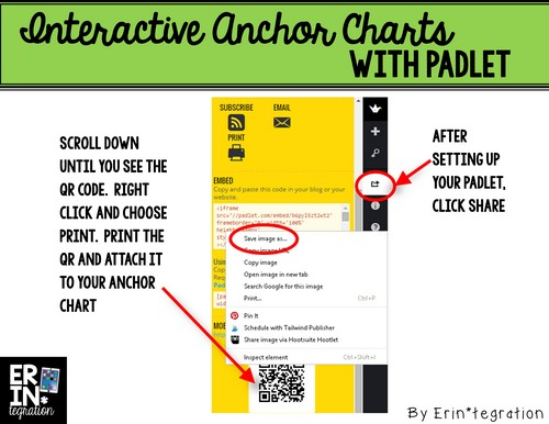How to grab a QR code of a Padlet