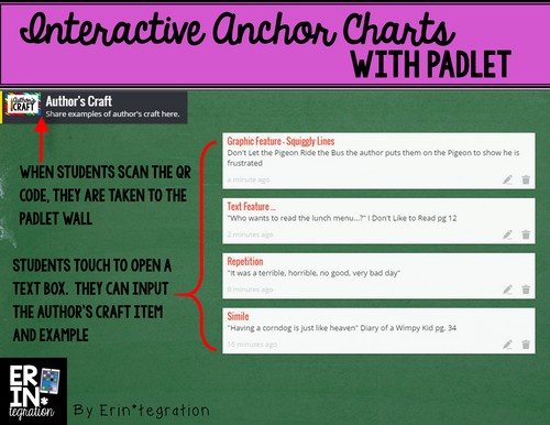 Author's Craft padlet example