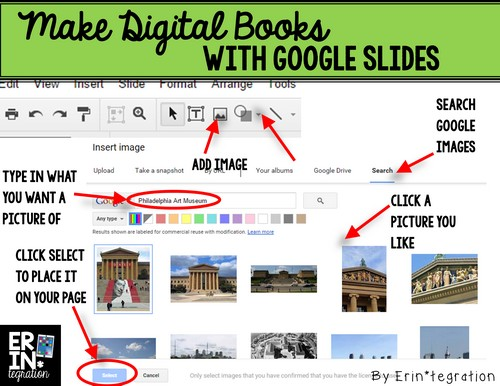 Make Digital Books with Google Slides - Adding images