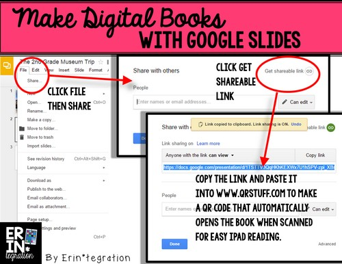 Making Digital Books with Google Slides: How to link book to QR code