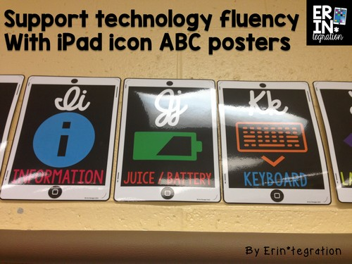 Increase students' technology fluency with these iPad icon ABC posters