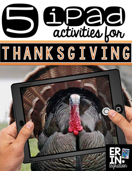 iPAD ACTIVITIES FOR THANKSGIVING