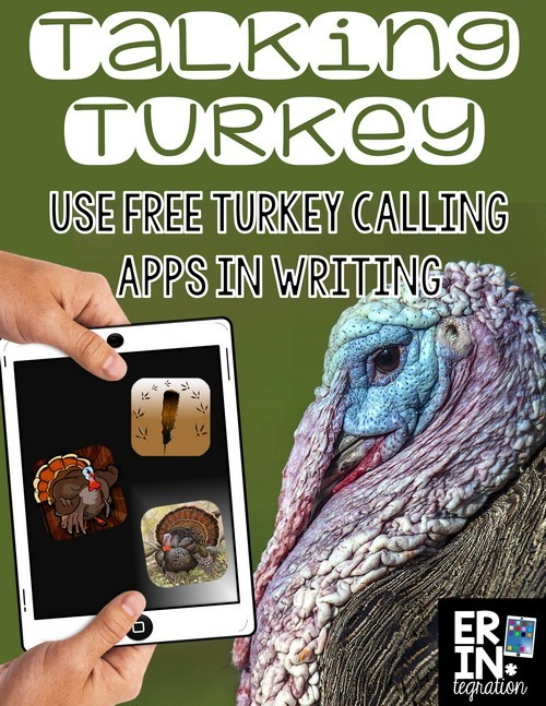 Using free turkey calling apps in the classroom to add sound effect to silly Talking Turkey stories! Free download at the link.