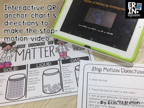 iPad Project Based Assessment: Have students SHOW what they KNOW about the 3 states on matter by making a stop-motion video on the iPad