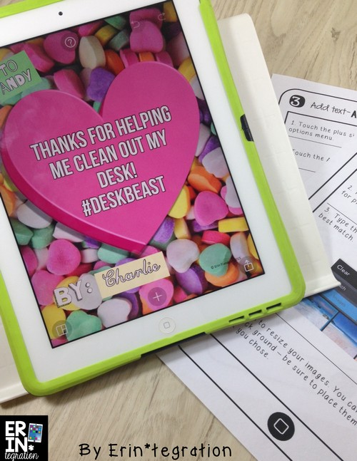 Valentine's Day technology integration ideas for the elementary classroom. Creative ways to use iPads, PCs, and Chromebooks that your students will LOVE! Use PicCollage to write your own conversation heart messages and more at the link!
