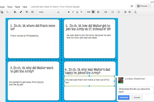 Idea for using Digital Task Cards on Google Classroom. Also includes a genius idea for differentiated assignments!