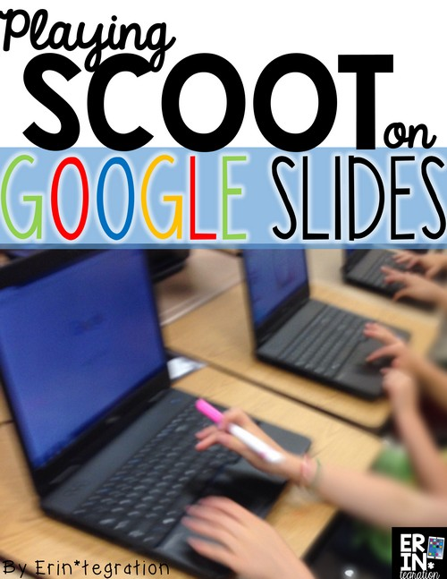 How to use Google Slides to play Google Scoot! Students move from computer to computer completing tasks on each computer as they go. Technology integration & movement! Plus icebreaker games for back to school.