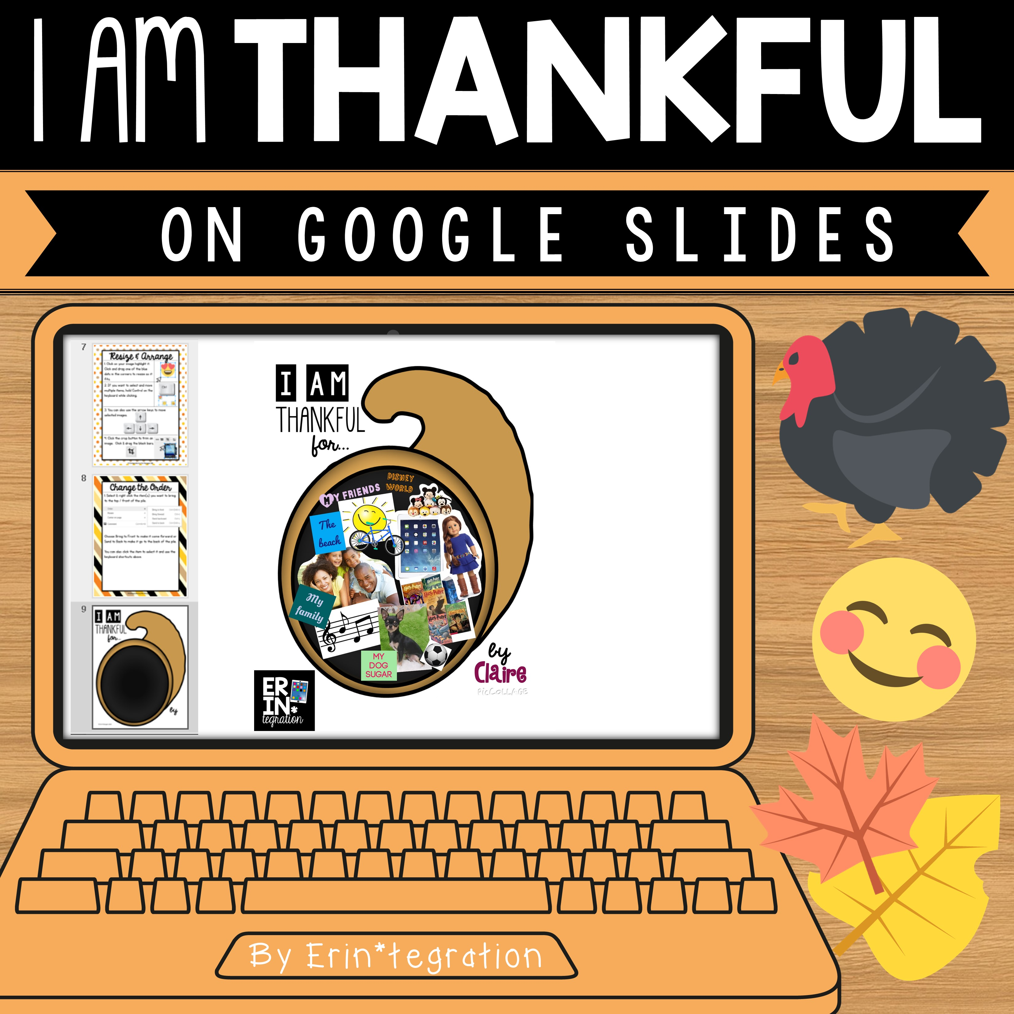 Erintegration Google Slides Thankful Activity