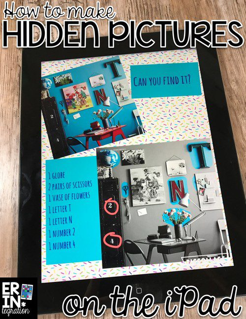 CREATE HIDDEN PICTURES ON THE IPAD WITH PIC COLLAGE