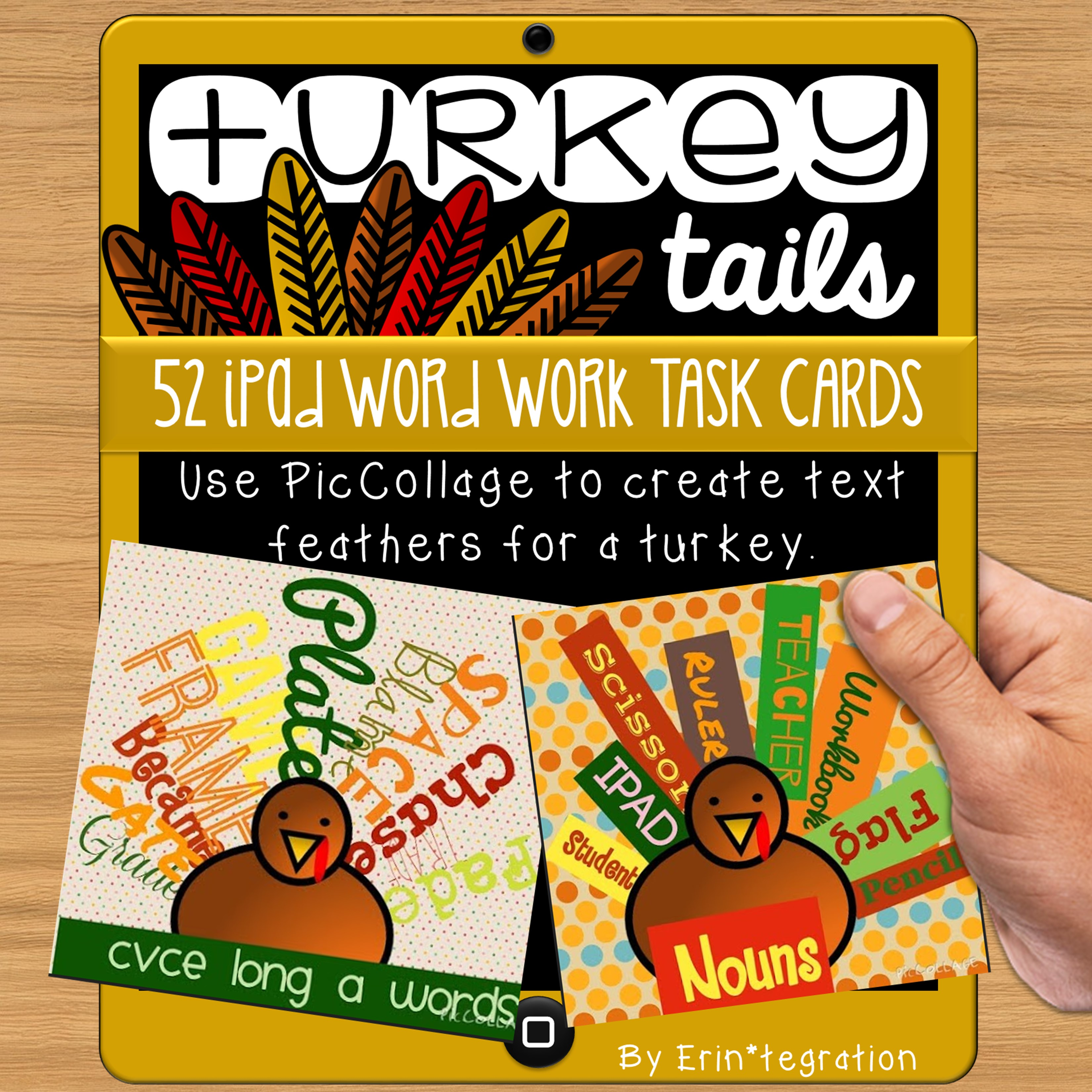 Erintegration Turkey Tails Word Work Center