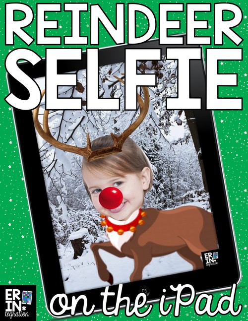 "Christmas iPad Activity on Pic Collage! Follow these FREE directions to use the free app Pic Collage to ""reindeer yourself."" Works on iPads, iPhones, Kindles, Windows 10 devices, and Android. Tons of options to personalize too. Use as a writing prompt, make digital Christmas cards, or works as a fun companion activity to a class read aloud."