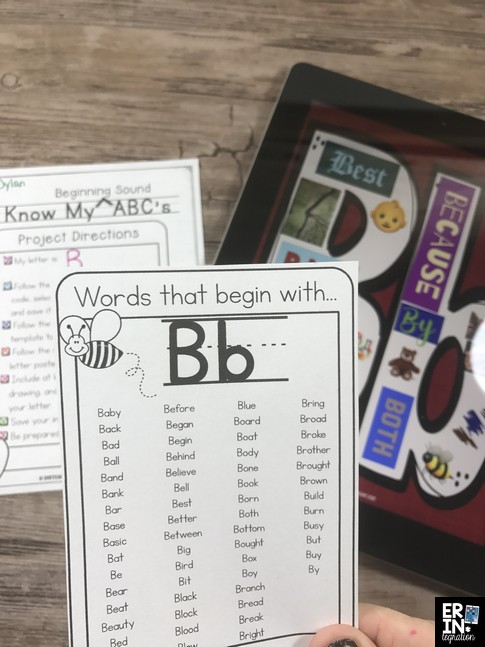 Learn how to create paperless alphabet books on the iPad. Paperless ABC bet books, digital alphabet books, book creator app lessons, Pic Collage lessons, alphabet books in elementary, technology integration lessons elementary