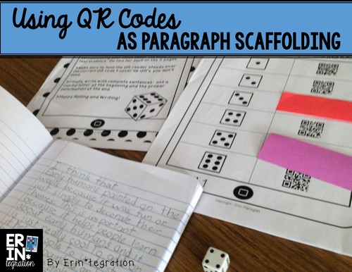 QR codes will show scaffolded phrases for paragraph building when scanned
