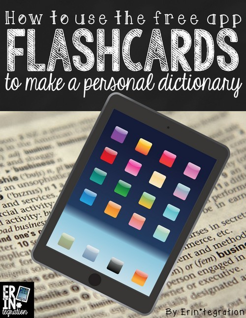 Using the free iPad app flashcards to make student personal dictionaries, customized word lists and more. Students can even take quizzes on the words they choose. FREE and easy to set up. Learn how at the link!