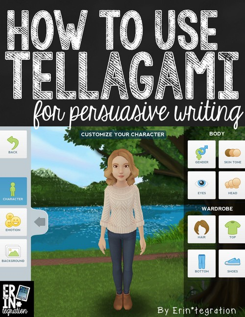 persuasive writing on the iPad with the free app Tellagami