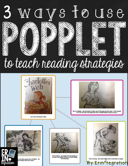 Using the free iPad app Popplet in the classroom during Reading Workshop