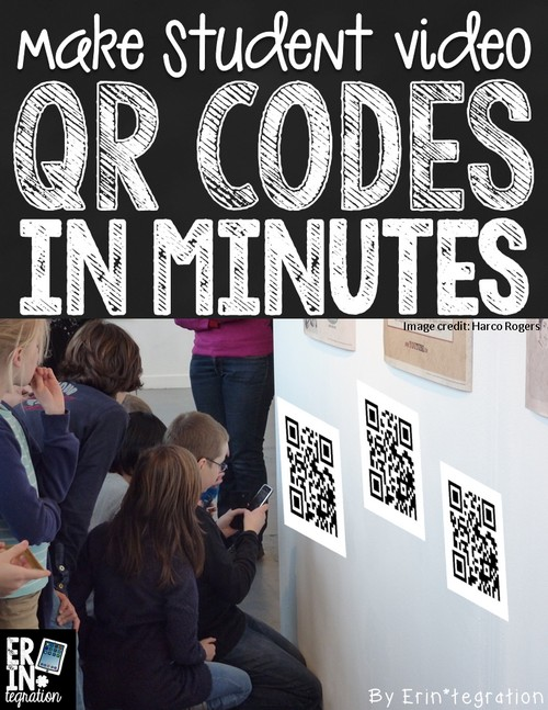 Using a batch QR entry on Google Sheets to make a class set of QR codes in minutes. Easily create interactive hallway displays of student videos. Or hang on a bulletin board for student access.