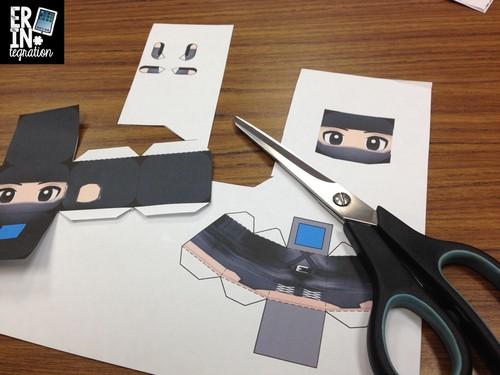 Cutting printed Paper Chibi's