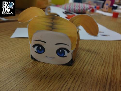 Paper Chibi assembled head