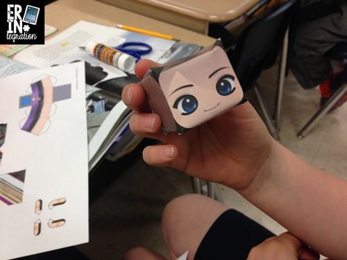 Gluing the Paper Chibi head