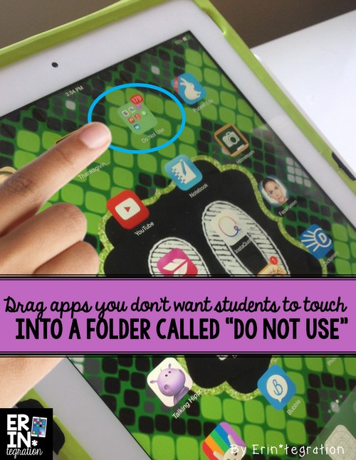 Most important folder to make on an iPad and how to make folders on the iPad to catalog and organize apps on student  1:1 iPads, shared iPads, or single iPad classrooms.