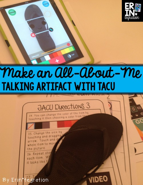 Back to school iPad activity: Make all-about-me-artifact talk with TACU app