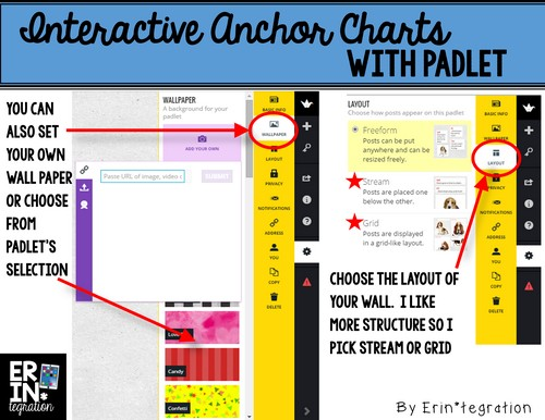 Selecting a background on Padlet