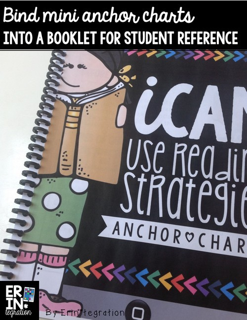 Bind anchor charts into a booklet for guided reading or student reference