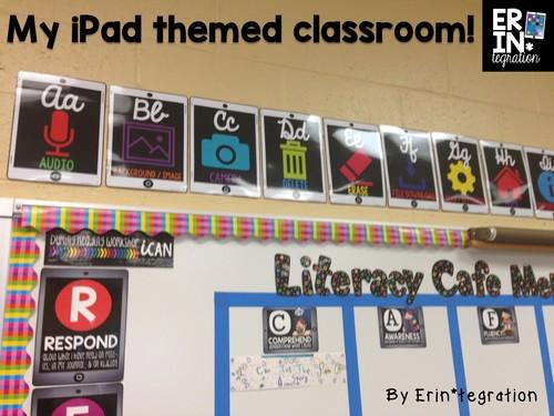 iPad themed classroom poster sets