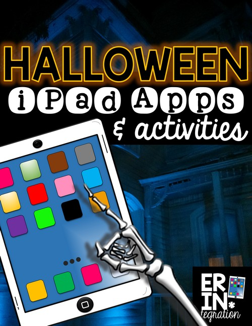 Halloween apps and digital activities for the iPad in the elementary classroom. Check out these creative ways to integrate iPads into Halloween plans across the curriculum using free apps. Includes a FREE DOWNLOAD too!