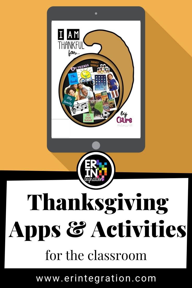 Erintegration Thanksgiving iPad Activities FB