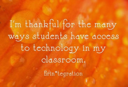 Have students use the free site Quozio to share what they are thankful for