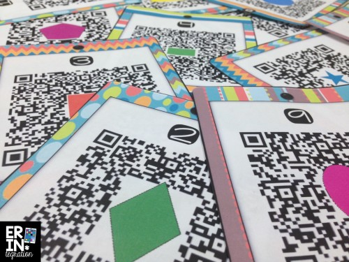 Create custom QR codes for FREE using a free website. You can even add images inside the QR code - perfect for making task cards. Find out how to do it plus get this set of 12 task cards free at the link.