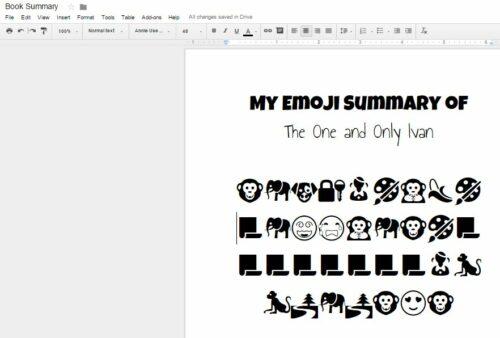 Make emoji book summaries on Google Docs with this free plug in.