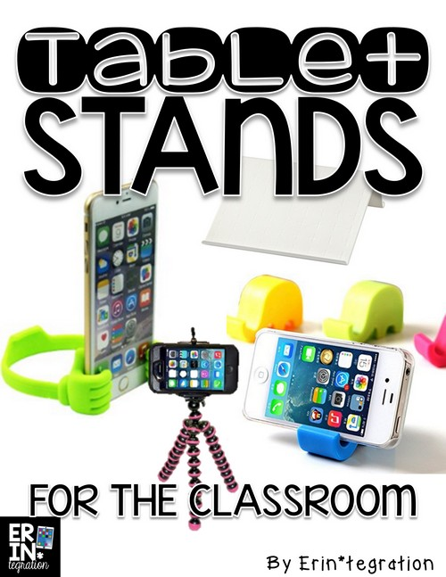 Tablet stands for the classroom for teachers using iPads, Kindles, Chromebooks, iTouches, and more! Teacher recommended and tested!