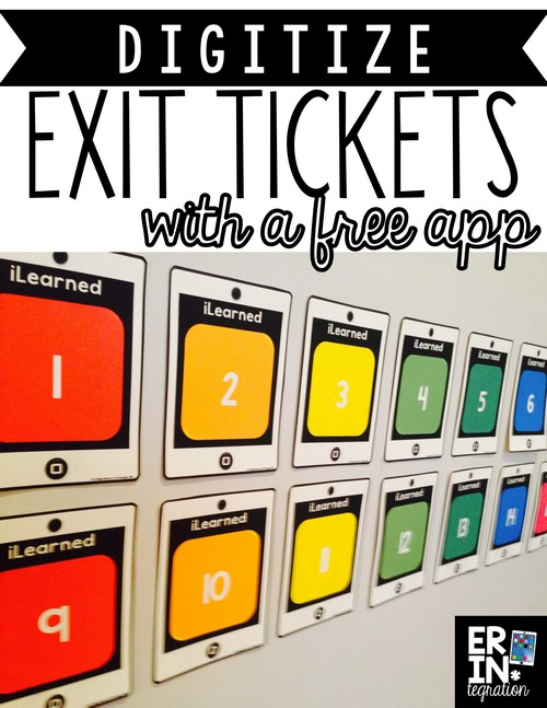 Use a printable poster, sticky notes, and a free app to save exit tickets for reference! You do not need to be 1:1. Students simply write what they learned on a sticky, paste it onto the poster, then the teacher scans the completed poster with a free app. Very cool!