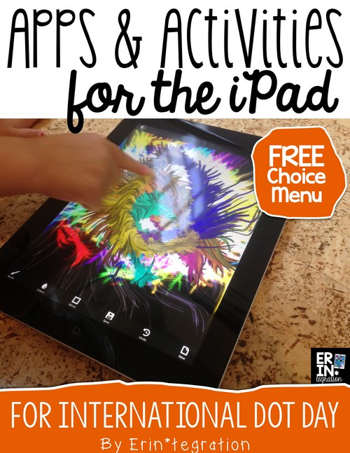 Celebrate International Dot Day on the iPad with these free apps, free choice menu to download, and app-smashing suggestions for sharing. Help students make their mark with engaging technology integration! Free download at the link too!