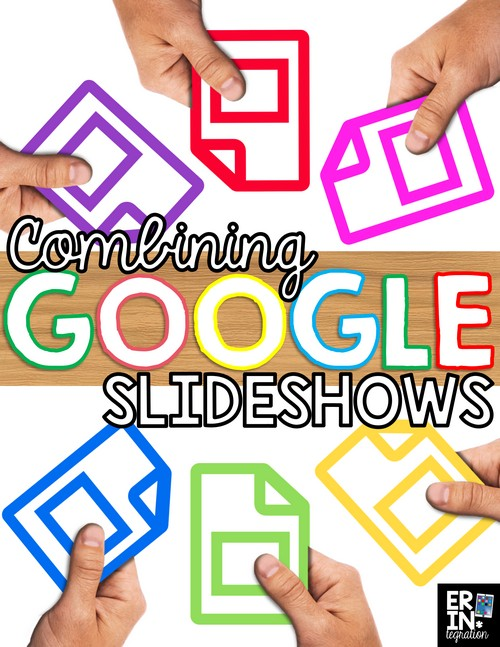 Learn how to quickly and easily combine individual student slideshows into one large slideshow with Google Slides. Perfect for sharing results of Google Scoot, Google Interactive Notebooks and other Google Slides activities in the classroom. Directions include options for Google Classroom and Google Drive.