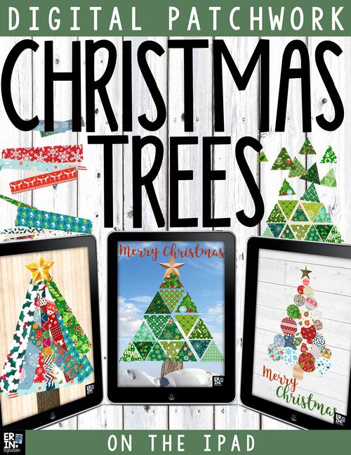 MAKE DIGITAL CHRISTMAS TREES ON THE IPAD WITH PIC COLLAGE