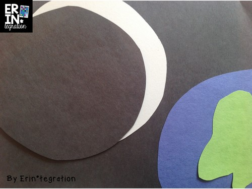 Cut paper moon phases on Stop Motion iPad Free app