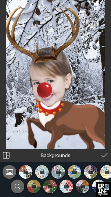 """Christmas iPad Activity on Pic Collage! Follow these FREE directions to use the free app Pic Collage to """"reindeer yourself."""" Works on iPads, iPhones, Kindles, Windows 10 devices, and Android. Tons of options to personalize too. Use as a writing prompt, make digital Christmas cards, or works as a fun companion activity to a class read aloud."""