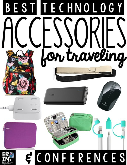 Check out my top technology accessories for travel - whether you are attending an edtech conference or other technology conference, a teaching conference or an unconference, if you need to bring devices or travel with your iPad, Chromebook, Mobile Phone, Laptop or more, then this list is for you. These are my top picks for tech accessories that I use myself when attending edtech conferences.