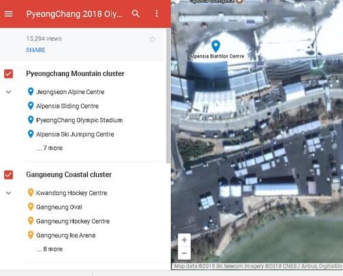 Google MyMaps for Winter Games